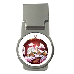 Christmas Decor Christmas Ornaments Money Clips (round)  by Nexatart