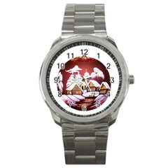 Christmas Decor Christmas Ornaments Sport Metal Watch by Nexatart