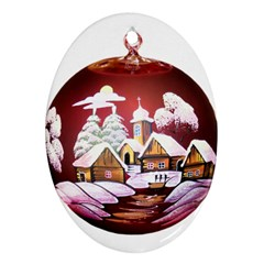 Christmas Decor Christmas Ornaments Oval Ornament (two Sides) by Nexatart