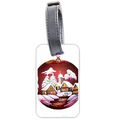 Christmas Decor Christmas Ornaments Luggage Tags (one Side)  by Nexatart