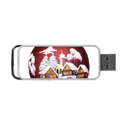 Christmas Decor Christmas Ornaments Portable Usb Flash (one Side) by Nexatart