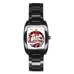 Christmas Decor Christmas Ornaments Stainless Steel Barrel Watch