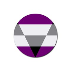Aegosexual Autochorissexual Flag Rubber Coaster (round)  by Mariart