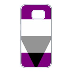 Aegosexual Autochorissexual Flag Samsung Galaxy S7 Edge White Seamless Case by Mariart