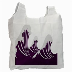 Waves Purple Wave Water Chevron Sea Beach Recycle Bag (one Side) by Mariart