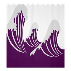 Waves Purple Wave Water Chevron Sea Beach Shower Curtain 66  X 72  (large)  by Mariart