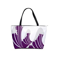 Waves Purple Wave Water Chevron Sea Beach Shoulder Handbags by Mariart