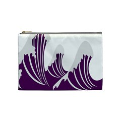 Waves Purple Wave Water Chevron Sea Beach Cosmetic Bag (medium)  by Mariart