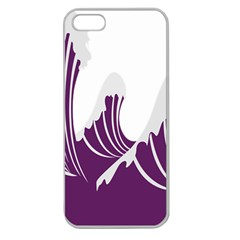 Waves Purple Wave Water Chevron Sea Beach Apple Seamless Iphone 5 Case (clear) by Mariart
