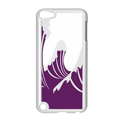 Waves Purple Wave Water Chevron Sea Beach Apple Ipod Touch 5 Case (white) by Mariart