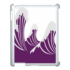 Waves Purple Wave Water Chevron Sea Beach Apple Ipad 3/4 Case (white) by Mariart
