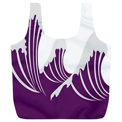 Waves Purple Wave Water Chevron Sea Beach Full Print Recycle Bags (l)  by Mariart