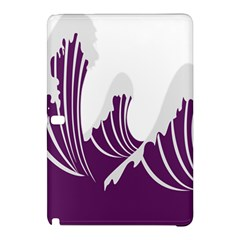 Waves Purple Wave Water Chevron Sea Beach Samsung Galaxy Tab Pro 10 1 Hardshell Case by Mariart