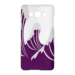 Waves Purple Wave Water Chevron Sea Beach Samsung Galaxy A5 Hardshell Case  by Mariart
