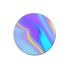 Aurora Color Rainbow Space Blue Sky Purple Yellow Magnet 3  (round) by Mariart