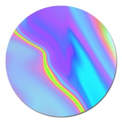 Aurora Color Rainbow Space Blue Sky Purple Yellow Magnet 5  (round) by Mariart