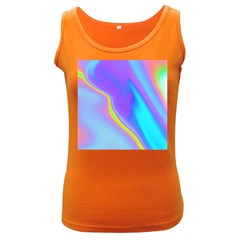 Aurora Color Rainbow Space Blue Sky Purple Yellow Women s Dark Tank Top