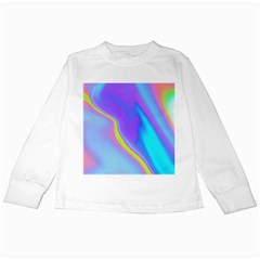 Aurora Color Rainbow Space Blue Sky Purple Yellow Kids Long Sleeve T Shirts by Mariart