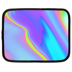 Aurora Color Rainbow Space Blue Sky Purple Yellow Netbook Case (large) by Mariart