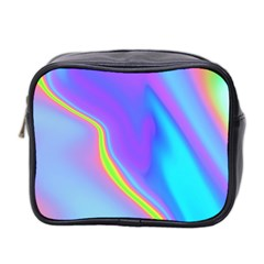 Aurora Color Rainbow Space Blue Sky Purple Yellow Mini Toiletries Bag 2 Side by Mariart