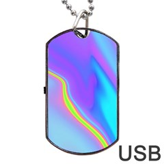 Aurora Color Rainbow Space Blue Sky Purple Yellow Dog Tag Usb Flash (two Sides) by Mariart