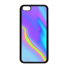 Aurora Color Rainbow Space Blue Sky Purple Yellow Apple Iphone 5c Seamless Case (black)