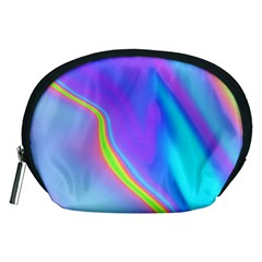 Aurora Color Rainbow Space Blue Sky Purple Yellow Accessory Pouches (medium)  by Mariart