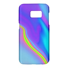 Aurora Color Rainbow Space Blue Sky Purple Yellow Samsung Galaxy S7 Hardshell Case  by Mariart