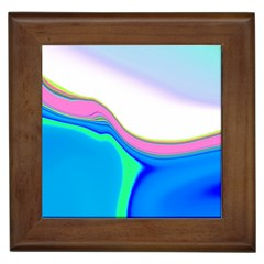 Aurora Color Rainbow Space Blue Sky Purple Yellow Green Framed Tiles by Mariart