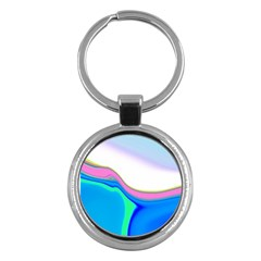 Aurora Color Rainbow Space Blue Sky Purple Yellow Green Key Chains (round)  by Mariart
