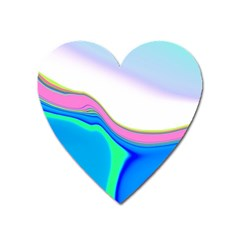 Aurora Color Rainbow Space Blue Sky Purple Yellow Green Heart Magnet by Mariart