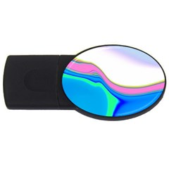 Aurora Color Rainbow Space Blue Sky Purple Yellow Green Usb Flash Drive Oval (4 Gb) by Mariart