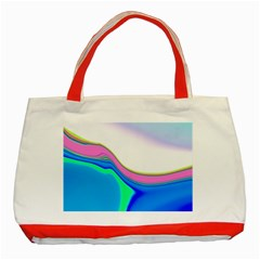 Aurora Color Rainbow Space Blue Sky Purple Yellow Green Classic Tote Bag (red) by Mariart