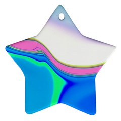 Aurora Color Rainbow Space Blue Sky Purple Yellow Green Star Ornament (two Sides) by Mariart
