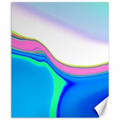 Aurora Color Rainbow Space Blue Sky Purple Yellow Green Canvas 8  X 10  by Mariart
