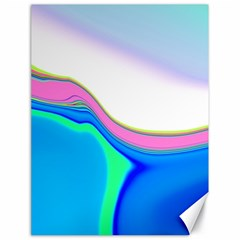 Aurora Color Rainbow Space Blue Sky Purple Yellow Green Canvas 18  X 24   by Mariart