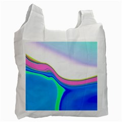 Aurora Color Rainbow Space Blue Sky Purple Yellow Green Recycle Bag (one Side) by Mariart