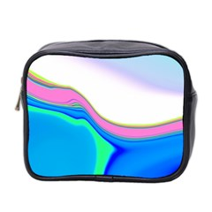 Aurora Color Rainbow Space Blue Sky Purple Yellow Green Mini Toiletries Bag 2 Side by Mariart