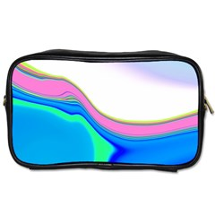 Aurora Color Rainbow Space Blue Sky Purple Yellow Green Toiletries Bags by Mariart