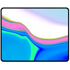 Aurora Color Rainbow Space Blue Sky Purple Yellow Green Fleece Blanket (medium)  by Mariart