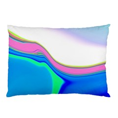 Aurora Color Rainbow Space Blue Sky Purple Yellow Green Pillow Case (two Sides) by Mariart