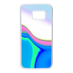 Aurora Color Rainbow Space Blue Sky Purple Yellow Green Samsung Galaxy S7 White Seamless Case by Mariart