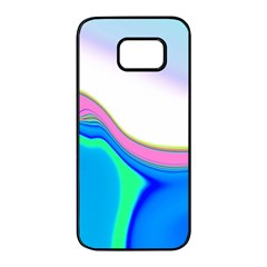 Aurora Color Rainbow Space Blue Sky Purple Yellow Green Samsung Galaxy S7 Edge Black Seamless Case by Mariart