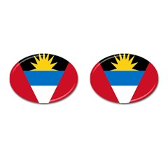 Banner Flag Sun Line Chevron Red White Black Blue Cufflinks (oval)