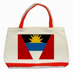 Banner Flag Sun Line Chevron Red White Black Blue Classic Tote Bag (red) by Mariart