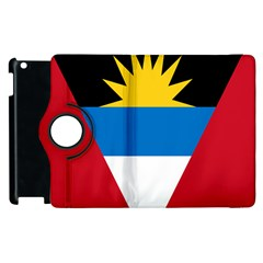 Banner Flag Sun Line Chevron Red White Black Blue Apple Ipad 3/4 Flip 360 Case by Mariart