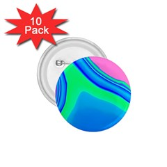 Aurora Color Rainbow Space Blue Sky 1 75  Buttons (10 Pack)