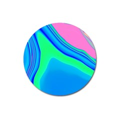 Aurora Color Rainbow Space Blue Sky Magnet 3  (round) by Mariart