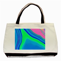 Aurora Color Rainbow Space Blue Sky Basic Tote Bag by Mariart