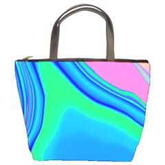 Aurora Color Rainbow Space Blue Sky Bucket Bags by Mariart